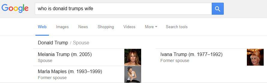 google serp knowledge graph wife